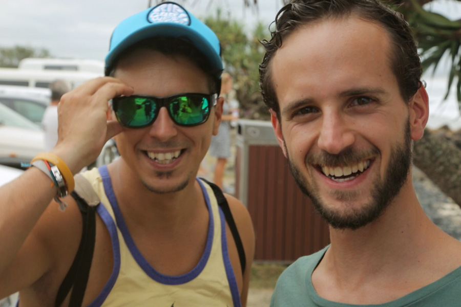 Mirko e Denis dopo l'intervista...