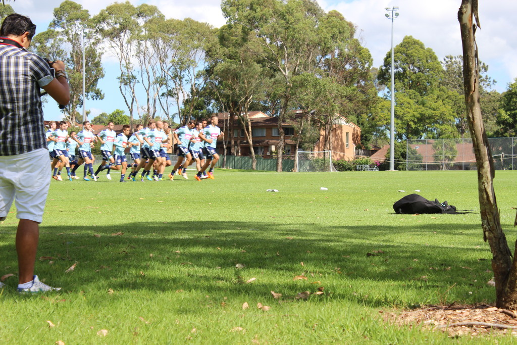 Il Sydney FC entra in campo